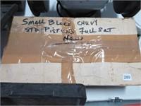 Set of new Chevrolet small block pistons