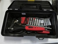 Tool box of allen wrenches, sockets etc