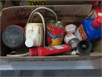 3 Boxes of cleaners, caulking etc