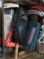 Box w/ duster, wire, drill etc