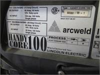 Lincoln arc weld 100 mig welder w/ stand