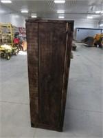 2 door wooden storage cabinet