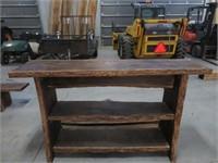 Live edge bar height table