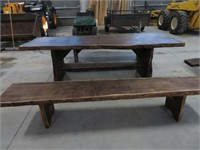 Live edge picnic table & 2 benches