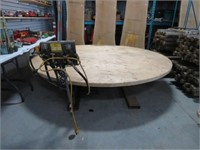 Electric and hydralic lift and turn 8 ft table