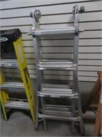 Mastercraft 17' folding aluminum ladder