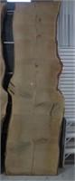 "Oak live edge slab approx 125"" x 42"""