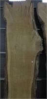 "Oak live edge slab approx 125""x 33"""