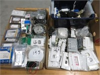 3 Boxes of electrical items