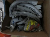 2 boxes of conduit and abs fittings