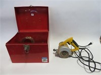 Power Fist tile saw w/ case and extra blades