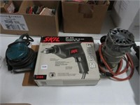Skil drill, Makita sander and router