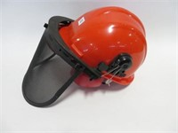 Chainsaw hard hat with mask and muffs