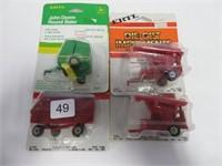 4 Ertl toy implements 1/64