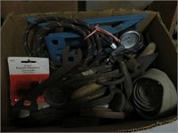 Box of wrenches and tools