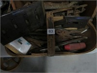 Basket of antique tools