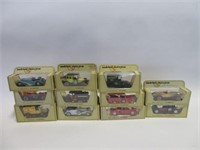 11 Matchbox models of yesteryear collector cars
