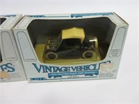 2 Vintage vehicles toy cars