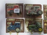 7 Toy tractors 1/16