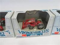 4 Vintage vehicles tractors