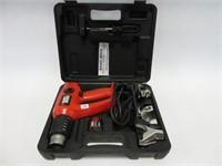 Black and Decker heat gun w/ attachments and case