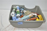 Container with Painting Supplies