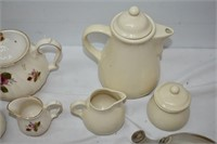 (3) Teapot Sets with Cream and Sugars