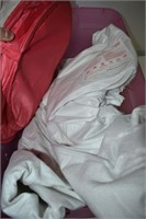 (2) Totes of Fabrics, Tulle & Sheets