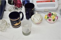 Assortment of Glassware, Can Opener and