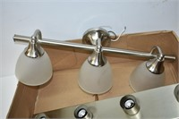 (4) Stainless Steel Light Fixtures
