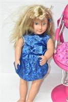 "American Girl  Beauty Chair & 18"" Doll"