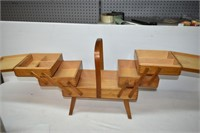 Wooden Expanding Sewing Box