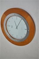 """Ergo Quartz Wall Clock13.5"""" (works)"""