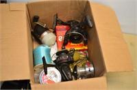 Box of Spotlights, Fishing Reels (for parts),