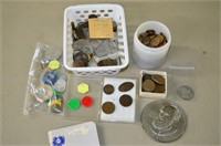 Grp, of Vintage Coins and Tokens