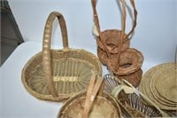 Large Assortment of Wicker Baskets