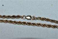 10k Gold Small Rope Bracelet