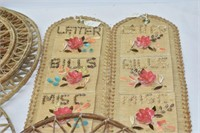"(2) 17"" Letter Organizers, Shell Wall Hangings"