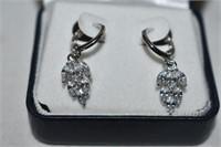 (925) Crystal Drop Earrings