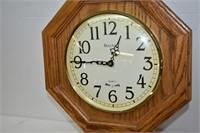 "Bulova Wooden Clock 22"" Tall (untested)"