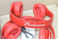 (2) Budweiser Headphones (untested)