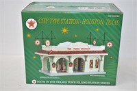 Texaco City Type Station with Lighted Interior