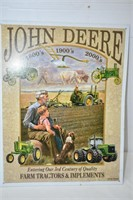 "John Deere Sign 12"" x 16"""
