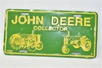 John Deere License Plate