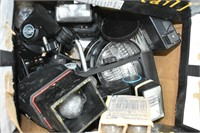 Box of Assorted Camera Flashes