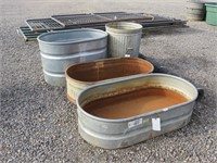 Assorted Troughs & Can