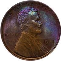 1C 1911 PCGS MS65 BN GOLD CAC