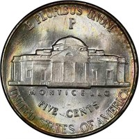 5C 1945-P DOUBLED DIE REVERSE. PCGS MS66 FS