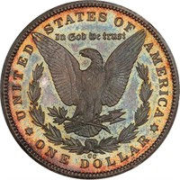 $1 1893-CC BRANCH MINT PROOF. PCGS PR65+ CAC