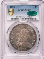 $1 1801 PCGS MS63 CAC